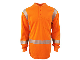 flame resistant reflective henley shirt